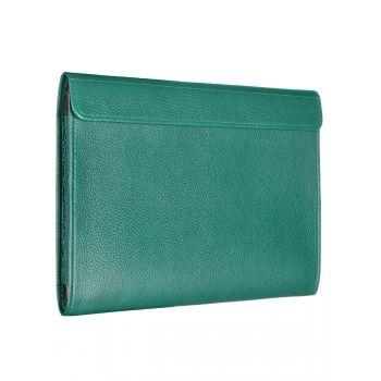 Чехол-конверт Alexander для MacBook 12'', кожа, классика, зелёный