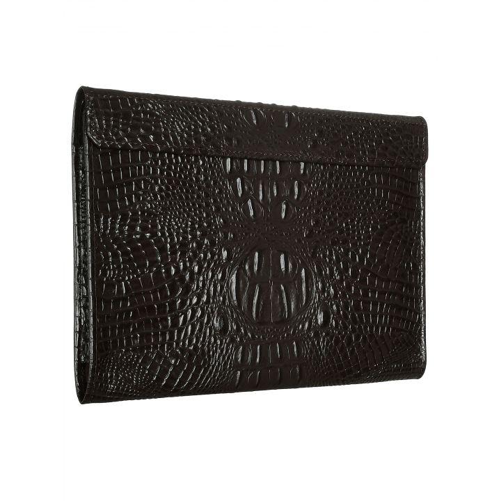 Чехол-конверт Alexander для MacBook 12'', кожа, кроко, коричневый