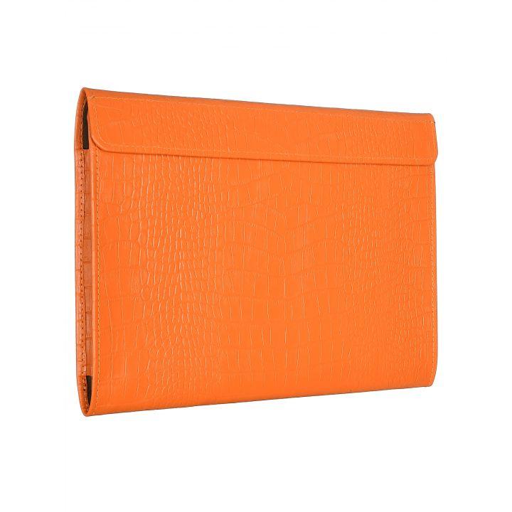 Чехол-конверт Alexander для MacBook 12'', кожа, кроко, оранжевый