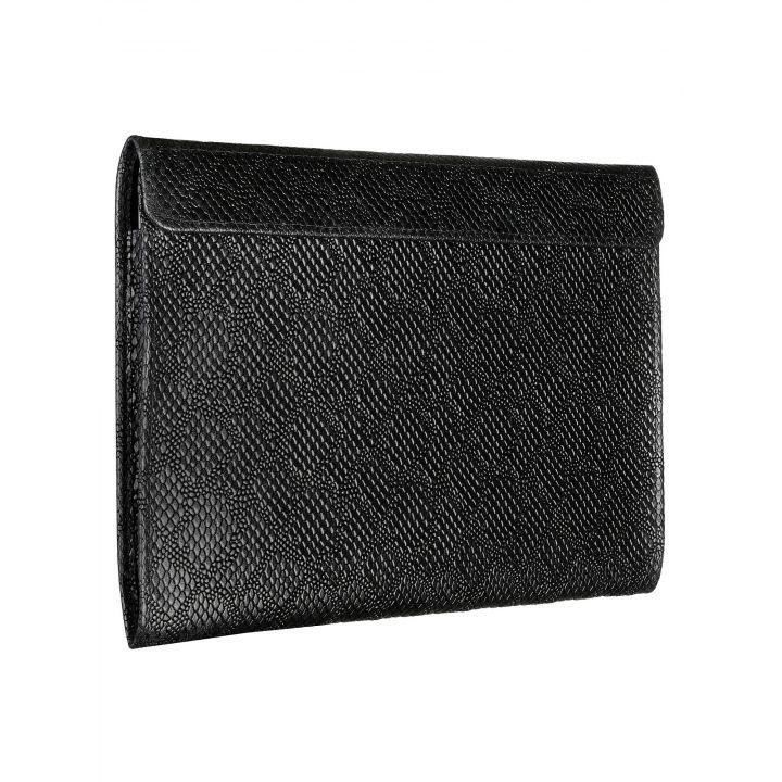 Чехол-конверт Alexander для MacBook 12'', кожа, ромб, чёрный