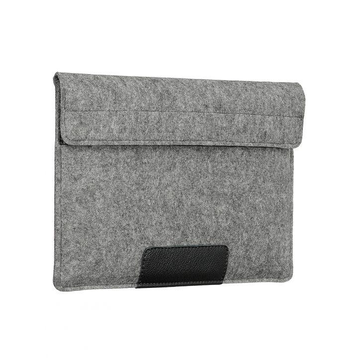Чехол-конверт Alexander для MacBook 12'', войлок и кожа, светло-серый