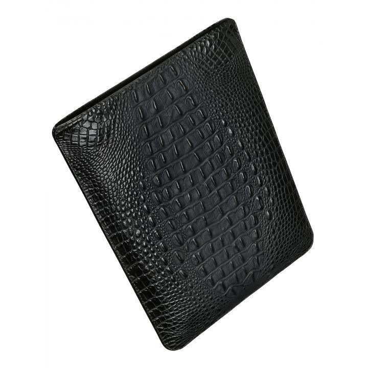 Чехол вертикальный Alexander для MacBook 12'', кожа, кроко, чёрный