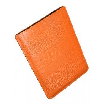 Чехол вертикальный Alexander для MacBook 12'', кожа, питон, оранжевый