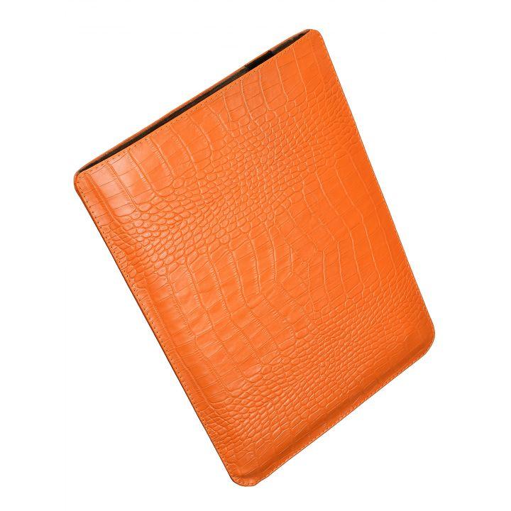 Чехол вертикальный Alexander для MacBook 12'', оранжевый, питон, белый