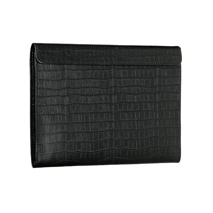 """Чехол-конверт Alexander для MacBook Pro 13"""" / Air 13"""", кожа, питон, чёрный"""