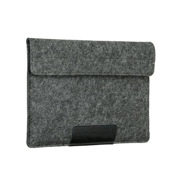 """Чехол-конверт Alexander для MacBook Pro 13"""" / Air 13"""", войлок и кожа, тёмно-серый"""