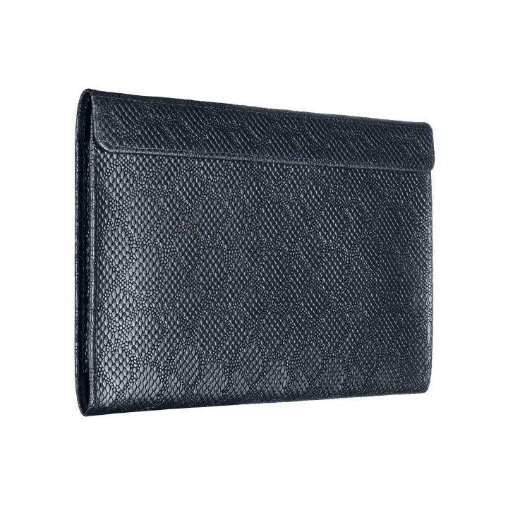 """Чехол-конверт Alexander для MacBook Pro 15"""", кожа, ромб, тёмно-синий"""