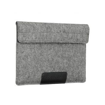"""Чехол-конверт Alexander для MacBook Pro 15"""", войлок и кожа, светло-серый"""