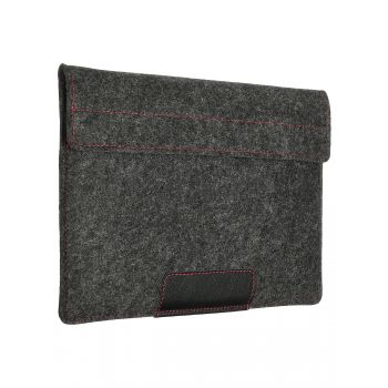 """Чехол-конверт с карманом Alexander для MacBook Pro 16"""", войлок и кожа, тёмно-серый"""