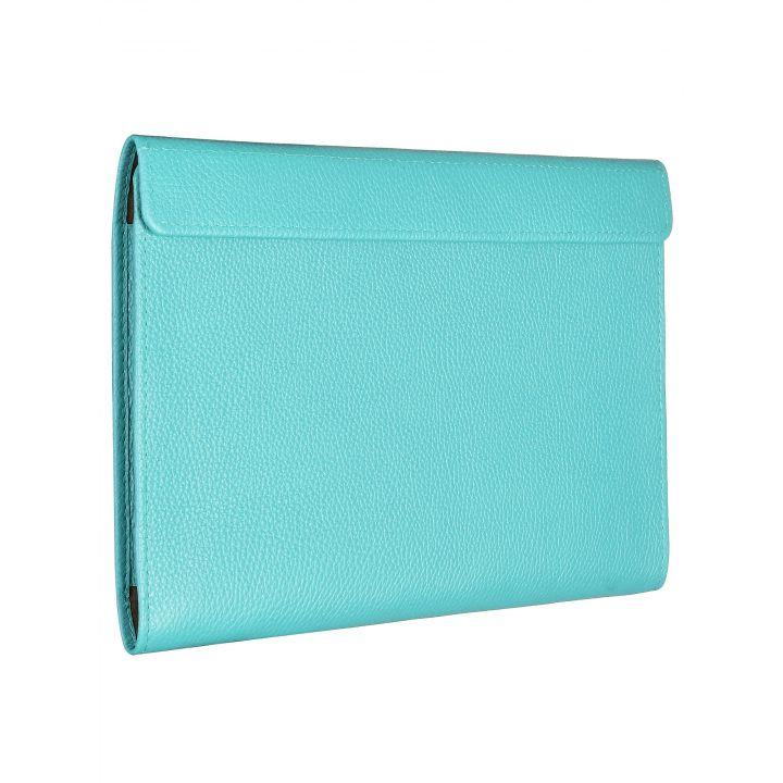 """Чехол-конверт Alexander для MacBook Pro 16"""", кожа, классика, бирюзовый"""