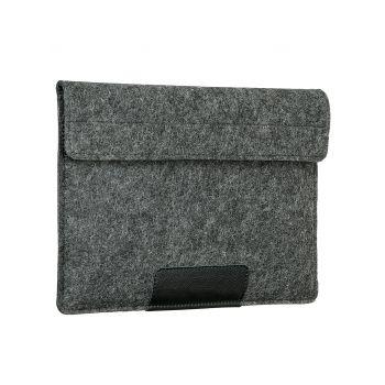 """Чехол-конверт Alexander для MacBook Pro 16"""", войлок и кожа, тёмно-серый"""
