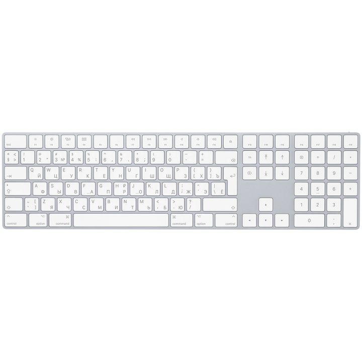 Клавиатура Apple Magic Keyboard с цифровой панелью, серебристая