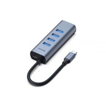 Хаб Baseus Enjoy series Type-C to USB3.0*4+PD HUB adapter