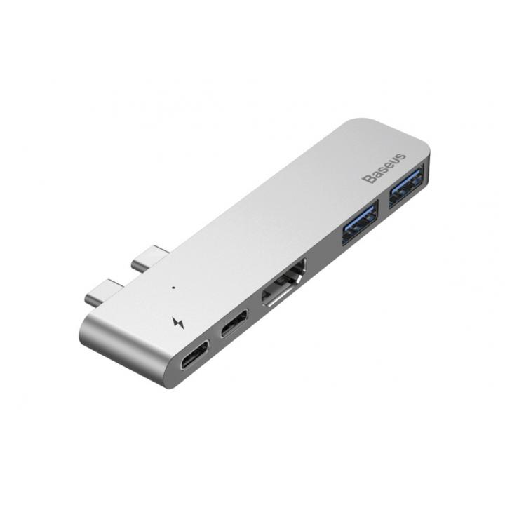 USB-  концентратор Baseus Thunderbolt C+ Dual Type-C to USB3.0/HDMI/Type-C
