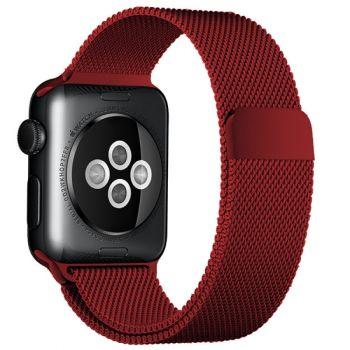Ремешок Миланский Mokka Milanese Loop Red Edition для Apple Watch 38/40 мм