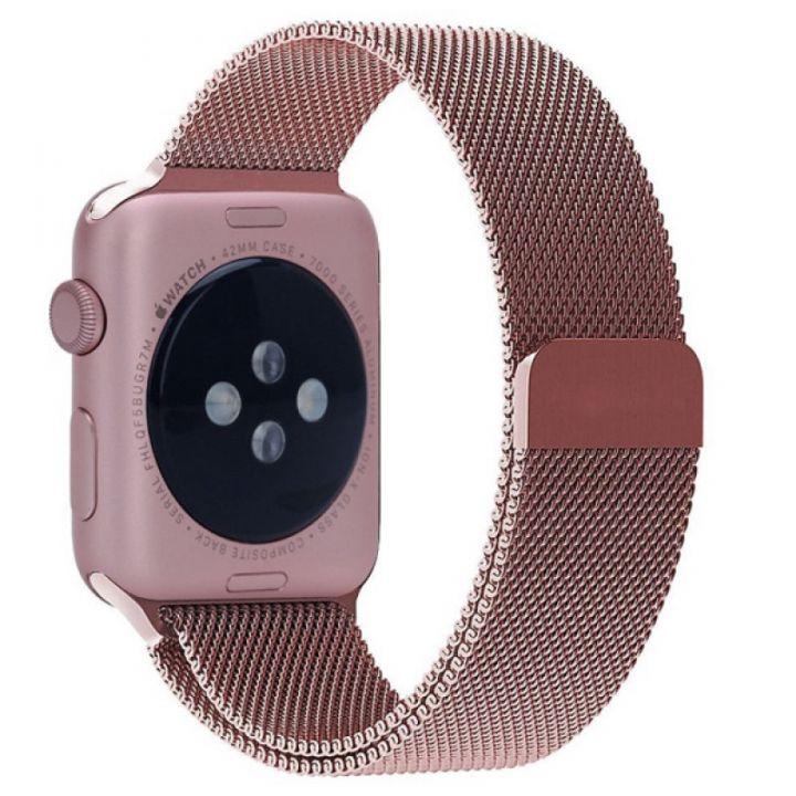 Ремешок Миланский Mokka Milanese Loop Rose Gold для Apple Watch 38/40 мм