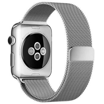 Ремешок Миланский Mokka Milanese Loop Silver для Apple Watch 38/40 мм
