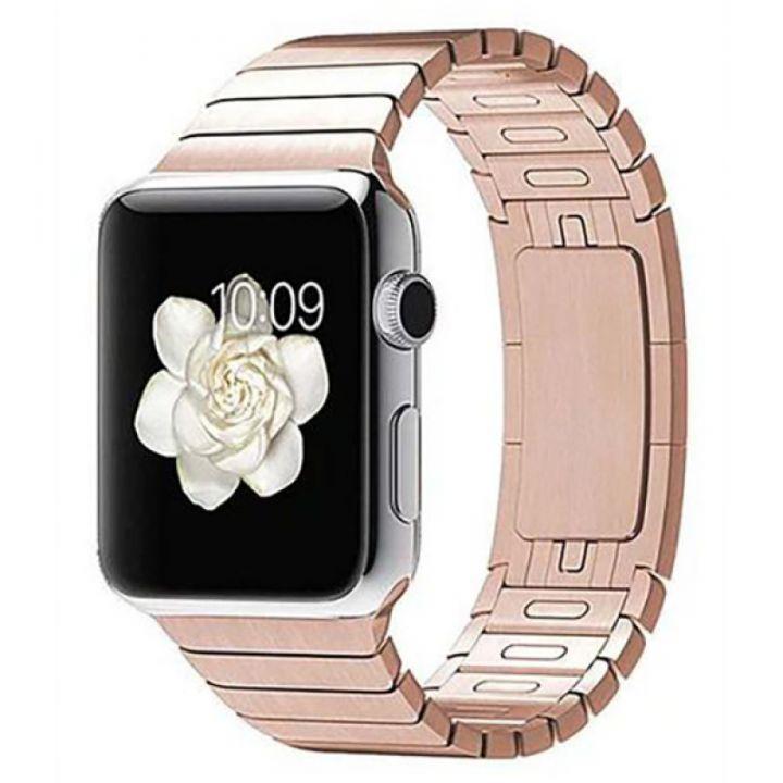 Ремешок браслет Link Bracelet 42/44 мм Rose Gold для Apple Watch