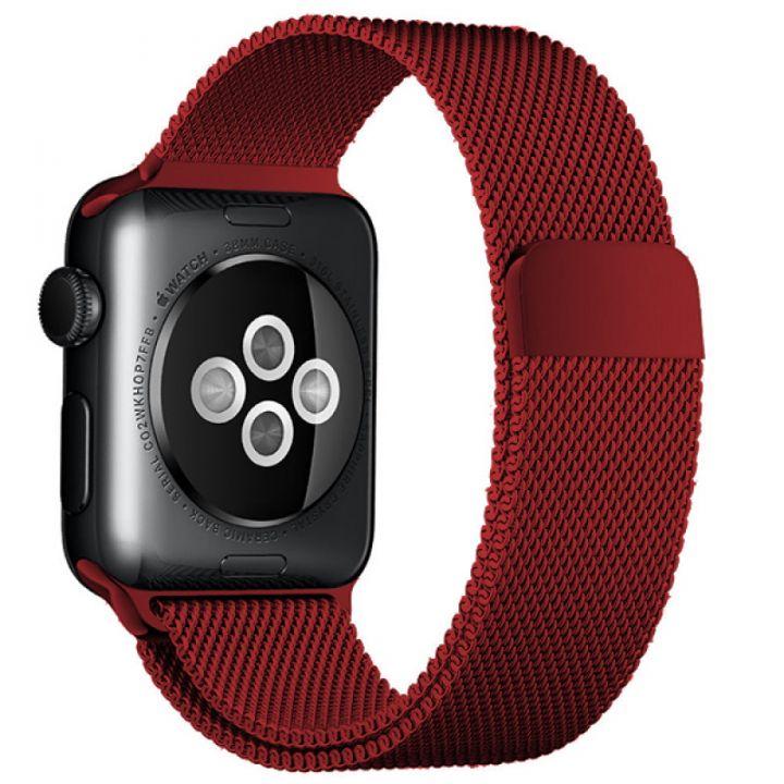 Ремешок Миланский Mokka Milanese Loop Red Edition для Apple Watch 42/44 мм
