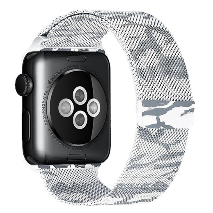 Ремешок Миланский Mokka Milanese Khaki для Apple Watch 42/44 мм (белый)