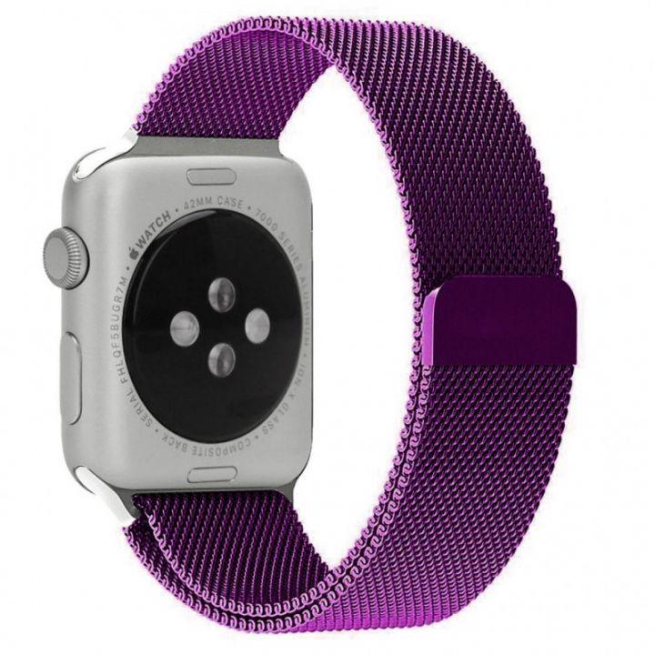 Ремешок Миланский Mokka Milanese Loop Purple для Apple Watch 42/44 мм