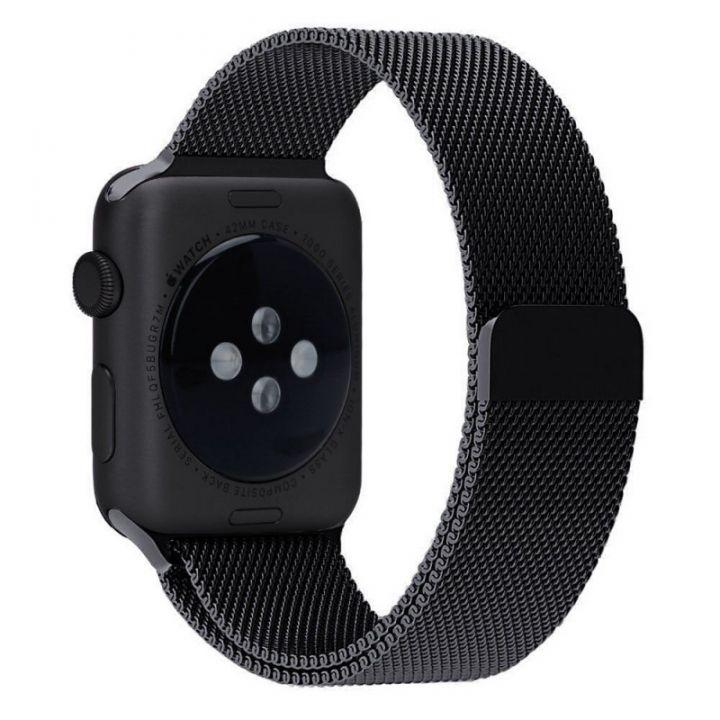 Ремешок Миланский Mokka Milanese Loop Space Black для Apple Watch 42/44 мм