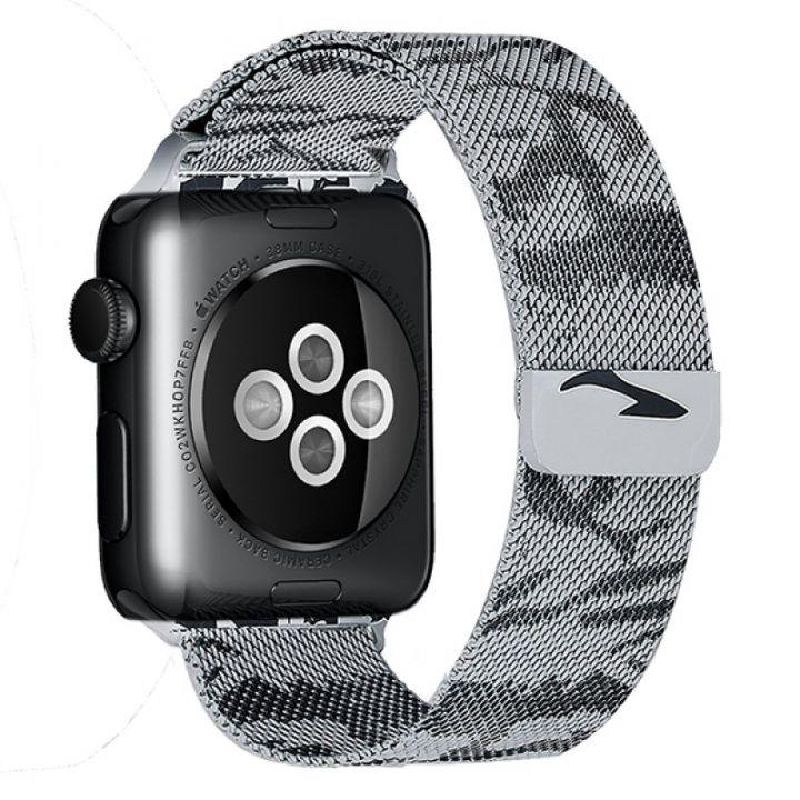 Ремешок Миланский Mokka Milanese Khaki для Apple Watch 42/44 мм (серый)