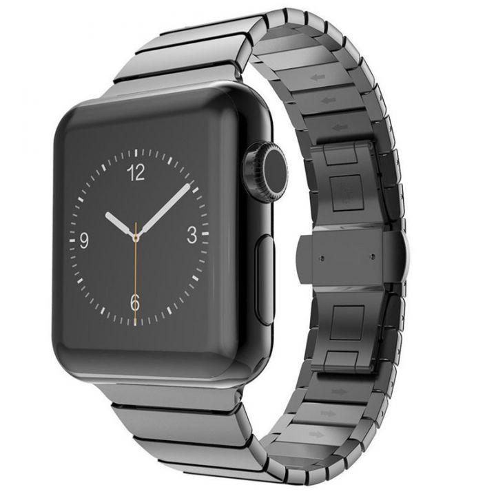 Ремешок стальной Mokka Link Buckle Bracelet Space Gray для Apple Watch 42/44 мм