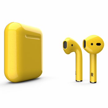 Наушники Apple AirPods 2, желтые