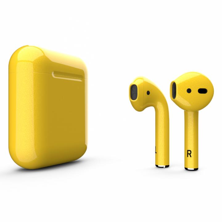 Наушники Apple AirPods жёлтый глянец
