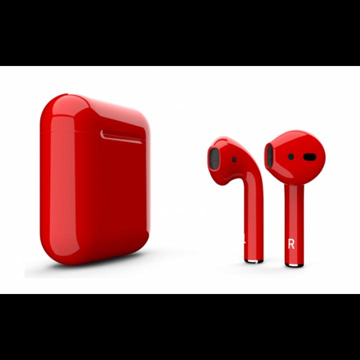 Наушники Apple AirPods красные глянец