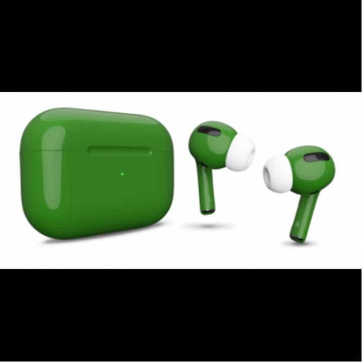 Наушники Apple AirPods Pro Custom Edition, тёмно-зелёный глянцевый