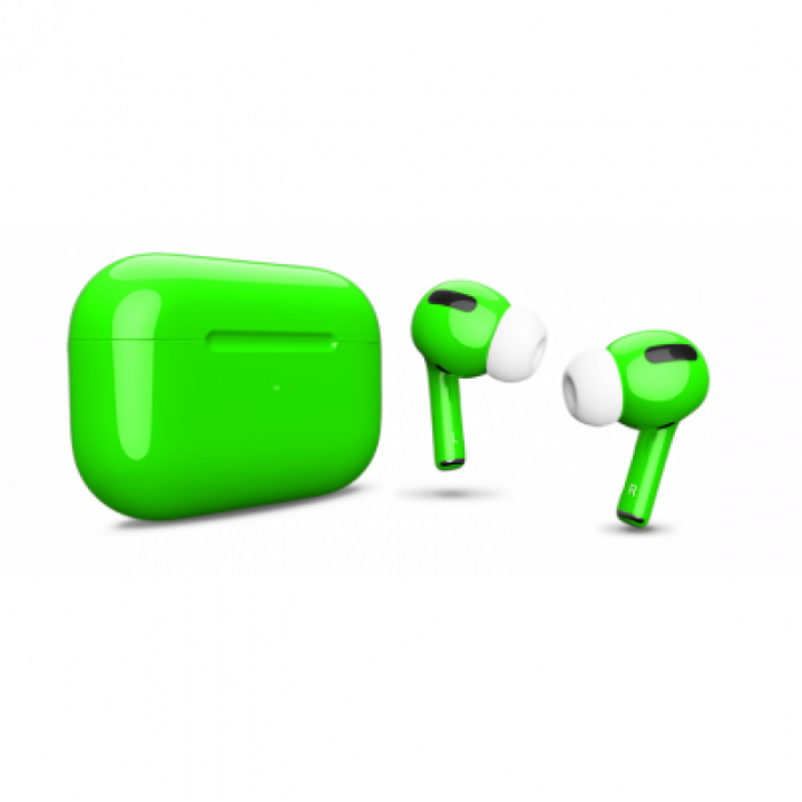 Наушники Apple AirPods Pro Custom Edition, ярко-зелёный глянцевый