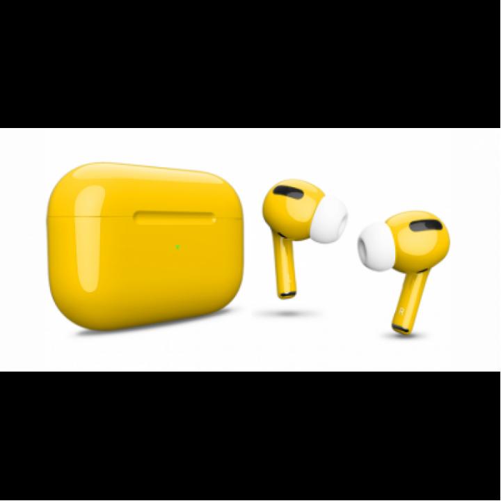 Наушники Apple AirPods Pro Custom Edition, жёлтый глянцевый